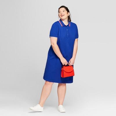 Ava Viv Womens Plus Size Polo T Shirt Dress Ava