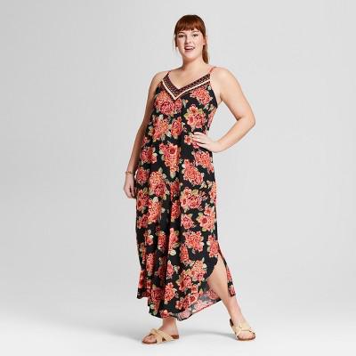 c7a8a1f212df Xhilaration™ Women s Plus Size Floral Print Maxi Jumpsuit -