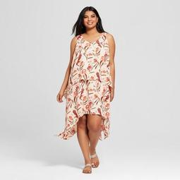 Ava & Viv™ Women\'s Plus Size Floral Print Midi Sundress - Ava & Viv™ Peach  - On Sale for $19.58 (regular price: $27.98)