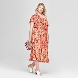 facca4e2b04 Ava   Viv™ Women s Plus Size Floral Print One Shoulder Dress - Ava   Viv™  Coral - On Sale for  24.49 (regular price   34.99)