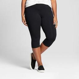 Women's Plus Size Capri Leggings - Ava & Viv™ Black