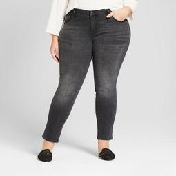 Women's Plus Size Skinny Jeans - Universal Thread™ Black