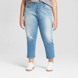 Women's Plus Size Boyfriend Crop Jeans - Universal Thread™ Light Wash