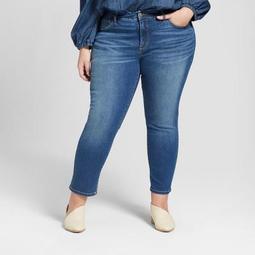 Women's Plus Size Skinny Crop Jeans - Universal Thread™ Medium Wash
