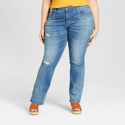 4e61ba79d062f Universal Thread™ Women s Plus Size Destructed Skinny Bootcut Jeans -  Universal Thread™ Light Wash - On Sale for  20.98 (regular price   29.98)