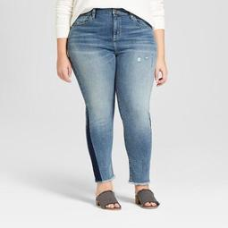 Women's Plus Size Raw Hem Straight Jeans - Universal Thread™ Light Wash