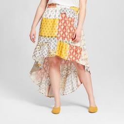 Women's Plus Size High Low Skirt - Xhilaration™ White