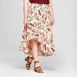 Not Your Ordinary Polka Dot Maxi Skirt High Waist African Fashion Plus
