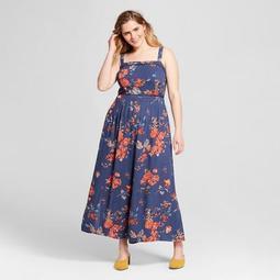 0209082f1b7 Xhilaration™ Women s Plus Size Floral Print Jumpsuit with Trim -