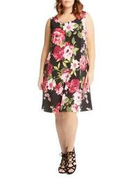 Plus Chloe Floral-Print Dress