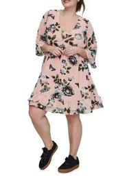 Plus Amara Quarter-Sleeve Short Dress