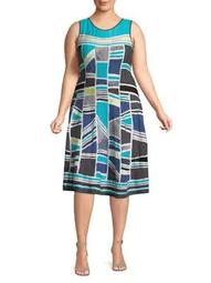 Plus Multicoloured Day Dress