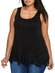 Plus Scalloped Lace A-Line Camisole