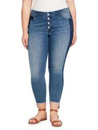 Plus High-Rise Cropped Jeans