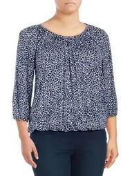 Plus Paisley-Print Top
