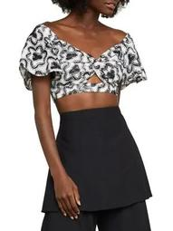 Floral Embroidered Crop Top