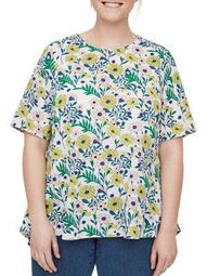 Plus Signe Short-Sleeve Blouse