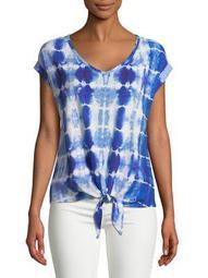 Plus Tie-Dye Front-Tie Top