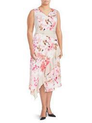 Plus Floral Ruffle Dress