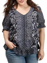 Plus Batik Border Top
