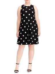 Plus Polka Dot A-Line Dress