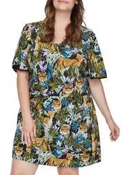 Plus Giselle Short-Sleeve Above-Knee Dress