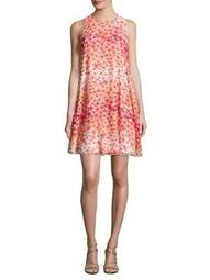 Plus Sleeveless Floral Watercolor Dress