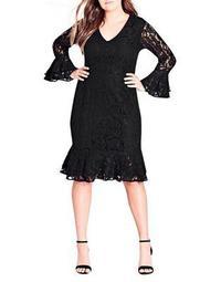 Plus Lace Desire Bell Sheath Dress