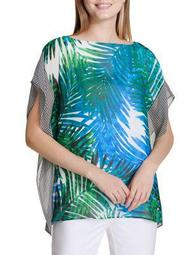 Plus Printed Kaftan Top