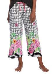 Plus Tropical Border Capri Pajama Pants