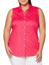 Plus Polka Dot Button-Down Shirt