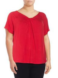 Plus Twist-Neck Top