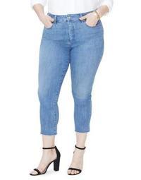 Plus Sheri Mini-Fray Hem Ankle Jeans