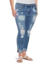 Plus Mika Bestfriend Distressed Jeans