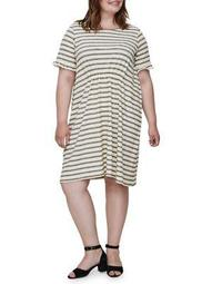 Plus Santana Short-Sleeve Above Knee Dress