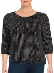 Plus Plus Dotted Knit Top