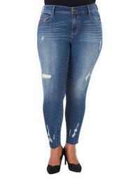Plus Plus Distressed Skinny Jeans