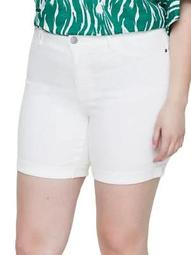 Plus 318 Queen Molly Normal Waist Slim Denim Shorts