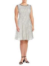 Plus Polka Dots A-Line Dress