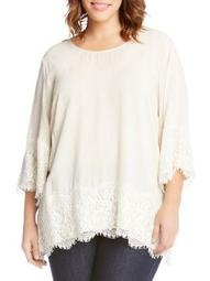 Plus Lace Border Top