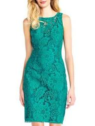 Lace Halter Sheath Dress