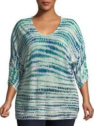 Plus High Point Printed Top