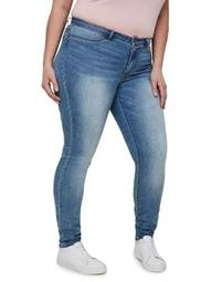Plus Queen Normal Waist Slim Jeans