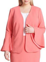 Plus Bell-Sleeve Open Jacket