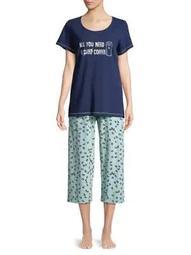 Plus Need Coffee Capri Pajamas