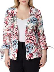 Plus Leaf-Print Jacket