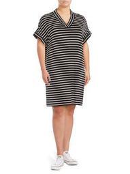 Plus Striped T-Shirt Dress