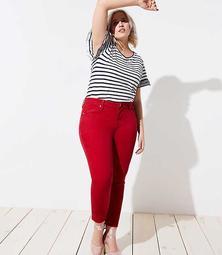 LOFT Plus Skinny Crop Jeans