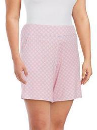 Plus Geometric Pajama Shorts