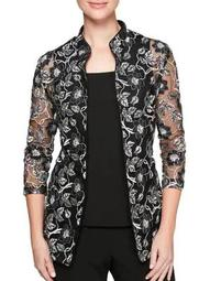 Plus Two-Piece Floral Lace Jacket and Camisole